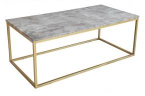Beside - Konferenčný stolík, vzhľad bieleho mramoru (kov, sklo)