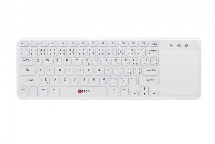 Bezdrôtová klávesnica C-TECH WLTK-01W, CZ/SK