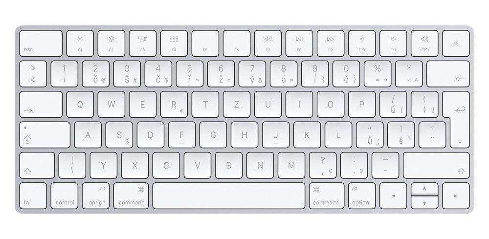 Bezdrôtová klávesnica Klávesnica Apple Magic, CZ, biela