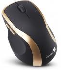 Bezdrôtová myš Connect IT CI-260, čierno-zlatá