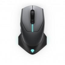 Bezdrôtová myš DELL Alienware AW610M, herné, 7 tlačidiel, čierna