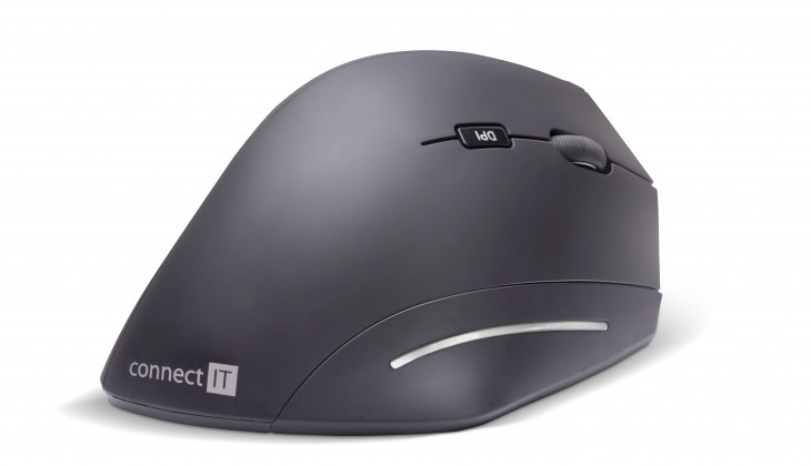 Bezdrôtová myš Ergonomická myš Connect IT CMO-2510-BK