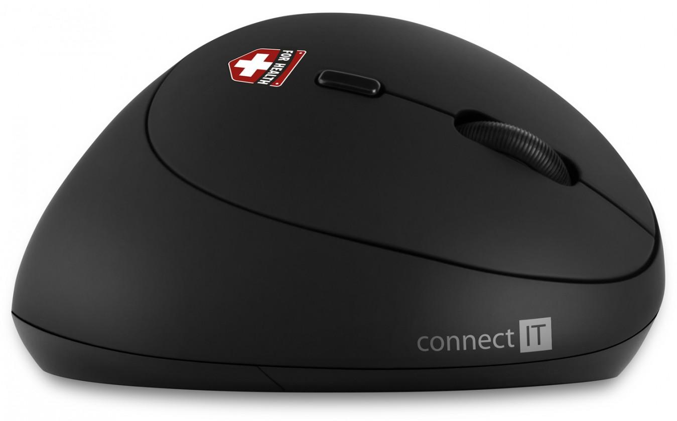 Bezdrôtová myš Ergonomická myš Connect IT CMO-2600-BK