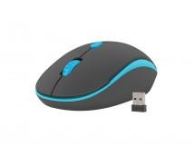 Bezdrôtová myš Natec Martin 1600 DPI, čierno-modrá