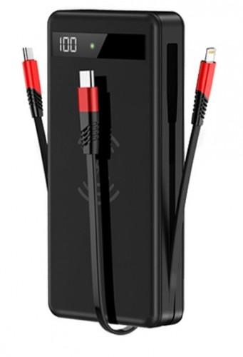 Bezdrôtová PowerBank 4v1 Lightning/Micro USB/USB-C, 20 000 mAh