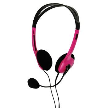 Bezdrôtové BasicXL slúchadlá s mikrofónom k PC, ružové - BXL-HEADSET1PI