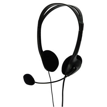 Bezdrôtové  BasicXL sluchátka s mikrofonem k PC, černé - BXL-HEADSET1BL