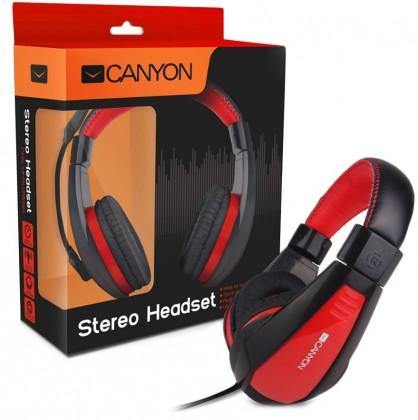 Bezdrôtové Canyon CNS-HHSU2BR, čierny červený