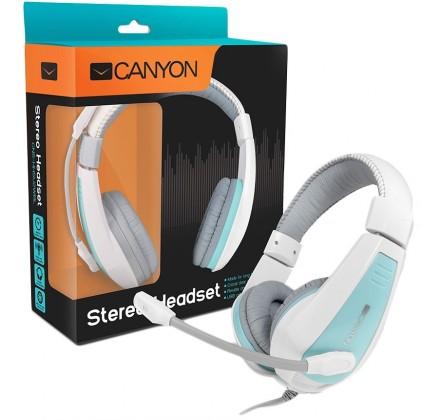 Bezdrôtové Canyon CNS-HHSU2WBL, biely modrý