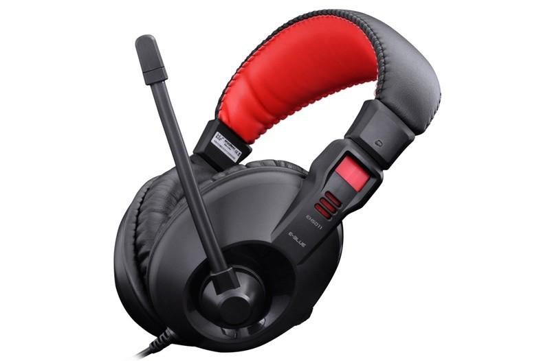 Bezdrôtové E-Blue Conqueror I., slúchadlá s mikrofónom, čierne, 3.5mm