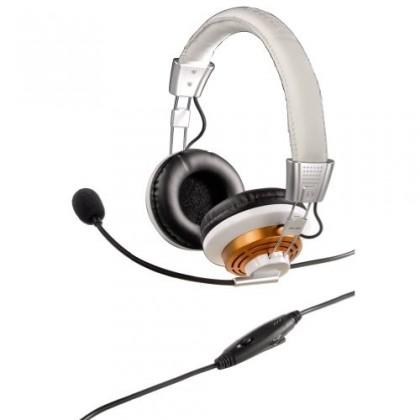 Bezdrôtové Hama PC Headset HS-320 OTÍK, bílá ROZBALENO