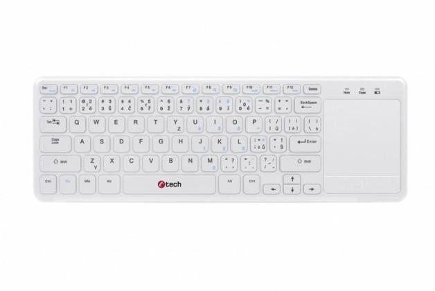 Bezdrôtové klávesnice C-TECH WLTK-01W, CZ/SK