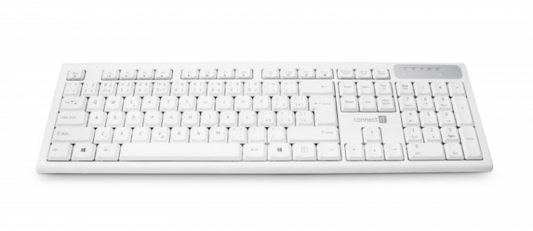 Bezdrôtové klávesnice CONNECT IT CKB-3010, bílá, CZ/SK CKB-3010-CS