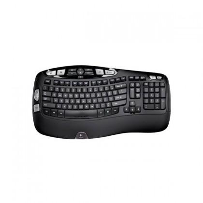 Bezdrôtové klávesnice Logitech Wireless Keyboard K350 USB CZ, čierna