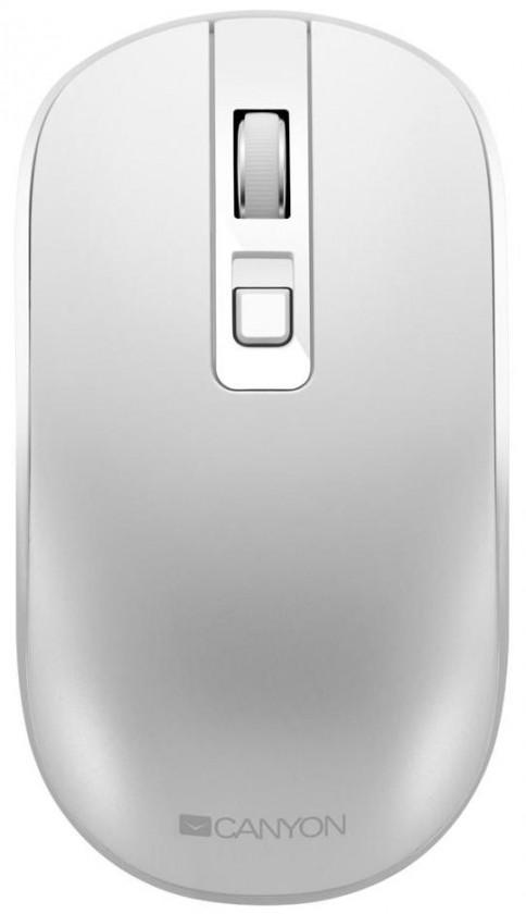 Bezdrôtové myši Bezdrôtová myš Canyon CNS-CMSW18PW, s bezdrát. nabíjaním, biela