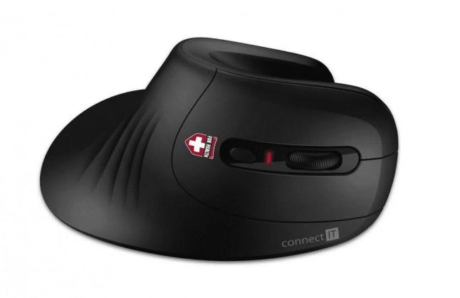 Bezdrôtové myši Bezdrôtová myš CONNECT IT CMO-2900-BK, ergonomická, čierna