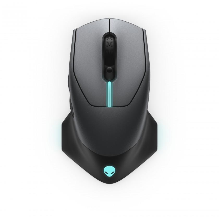 Bezdrôtové myši Bezdrôtová myš DELL Alienware AW610M, herná, 7 tlačidiel, čierna