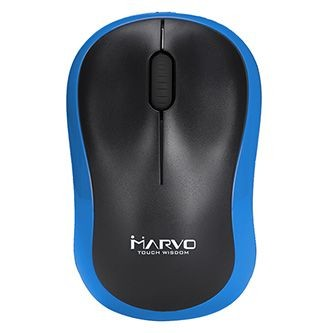 Bezdrôtové myši Bezdrôtová myš Marvo DWM100BL, 1000DPI, čierno-modrá