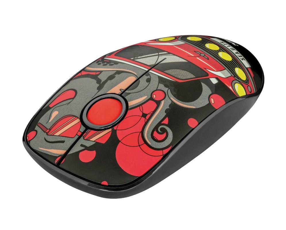 Bezdrôtové myši Bezdrôtová myš Trust Sketch, červená