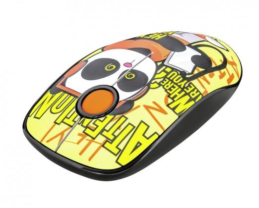 Bezdrôtové myši Bezdrôtová myš Trust Sketch, žltá