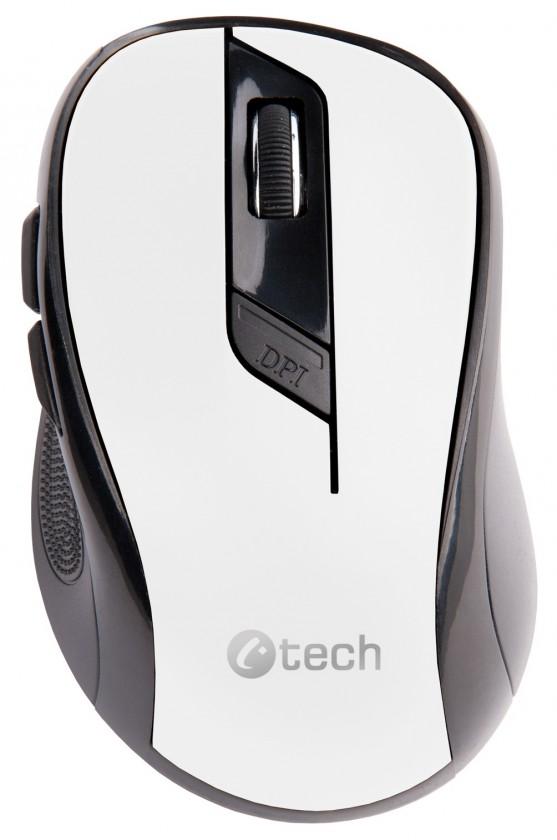 Bezdrôtové myši C-Tech WLM-02, černo-bílá WLM-02W