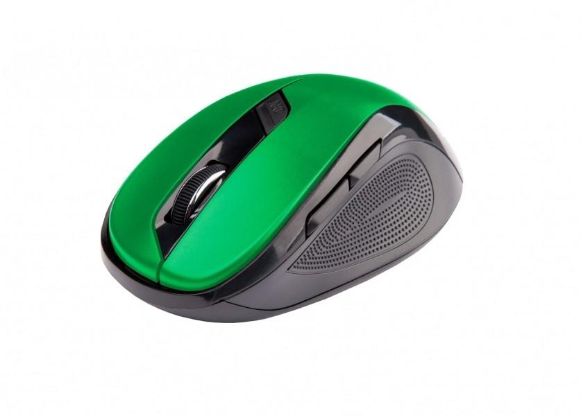Bezdrôtové myši C-Tech WLM-02, černo-zelená WLM-02G