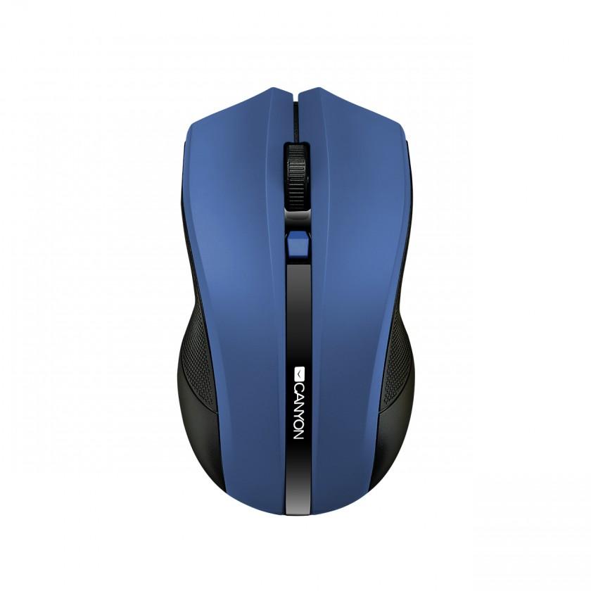 Bezdrôtové myši Canyon CNE-CMSW05BL, Wireless optická myš USB, modrá