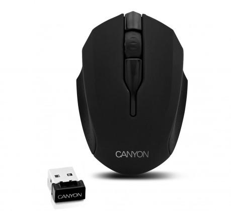 Bezdrôtové myši CANYON CNR-FMSOW01, čierna NEKOMPLETNÝ
