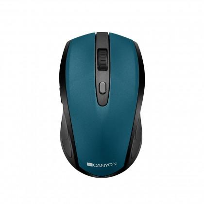 Bezdrôtové myši Canyon CNS-CMSW08B, optická myš Bluetooth / Wireless USB, zelená