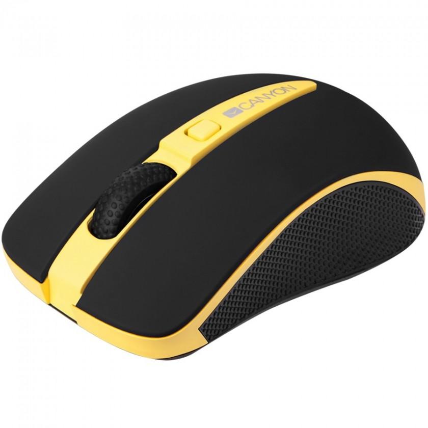 Bezdrôtové myši Canyon CNS-CMSW6 optická myš, žlto-čierna