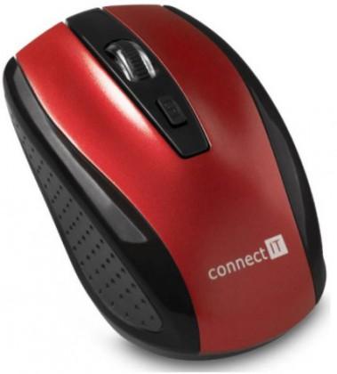 Bezdrôtové myši Connect IT bezdrátová optická myš, červená (CI-1224)