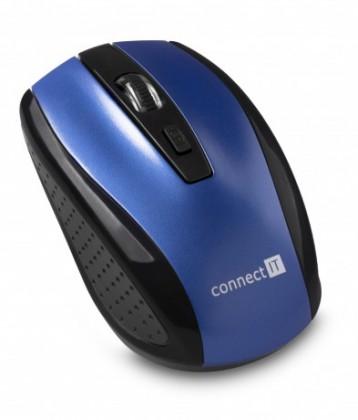 Bezdrôtové myši Connect IT bezdrátová optická myš, modrá (CI-1225)