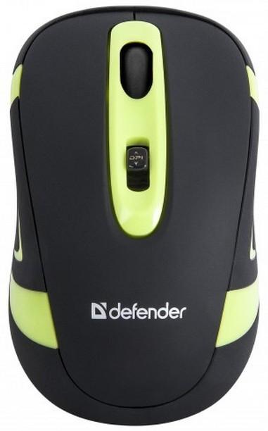 Bezdrôtové myši Defender Magnifico MM-505, čierna-zelená