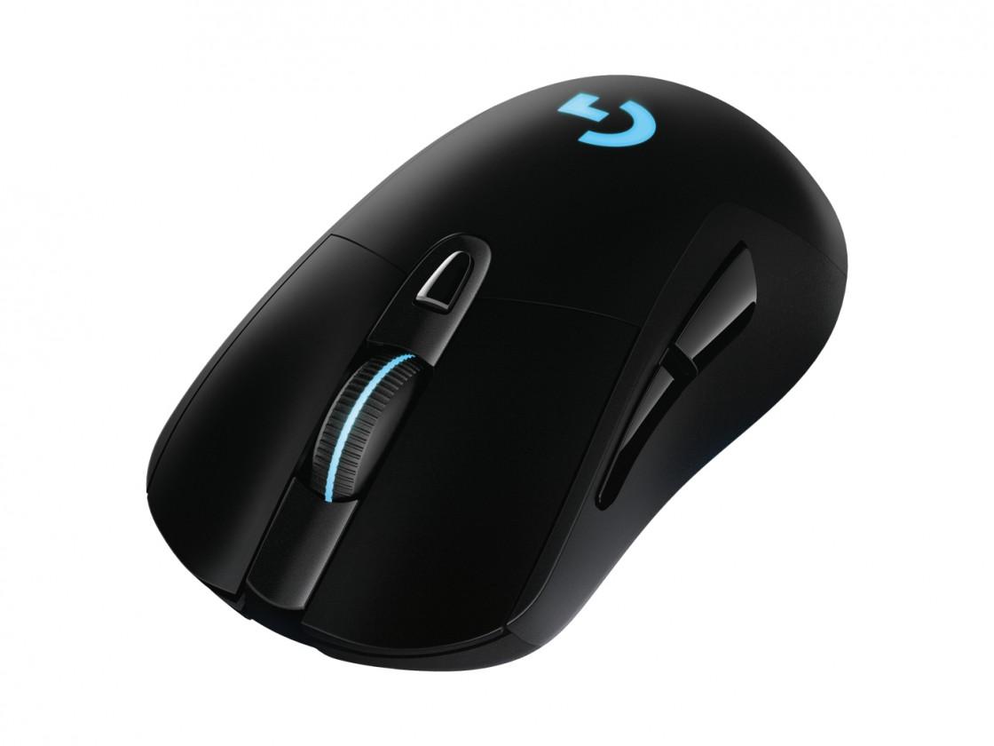 Bezdrôtové myši Herná myš Logitech G703 Lightspeed , bezdrôtová, čierna