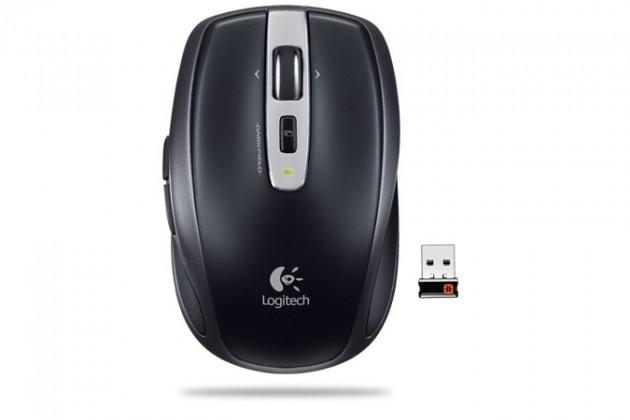 Bezdrôtové myši Logitech Anywhere Mouse MX, čierna