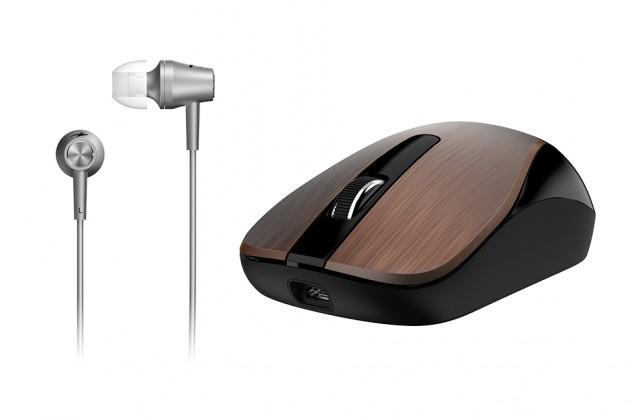 Bezdrôtové myši Myš Genius MH-8015 + headset zdarma kávová  Dobíjecí