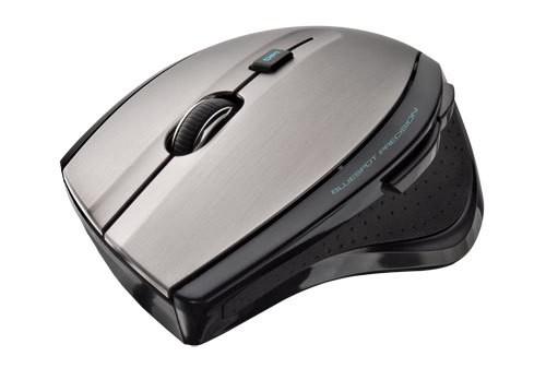 Bezdrôtové myši Trust MaxTrack Wireless Mouse, strieborná-čierna