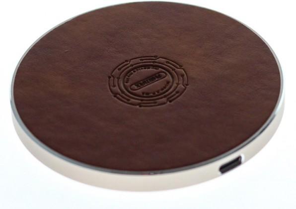 Bezdrôtové nabíjačky Bezdrôtová nabíjačka Remax 10W s QI, hnedá