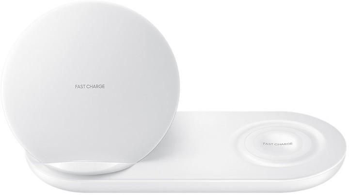 Bezdrôtové nabíjačky Duálna nabíjacia stanica Samsung pre bezdrôtové nab., biela