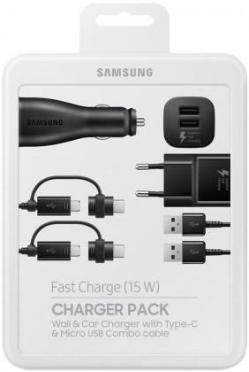 Bezdrôtové nabíjačky Nabíjacia sada Samsung autonabíjačka + nabíjačka + 2x kábel