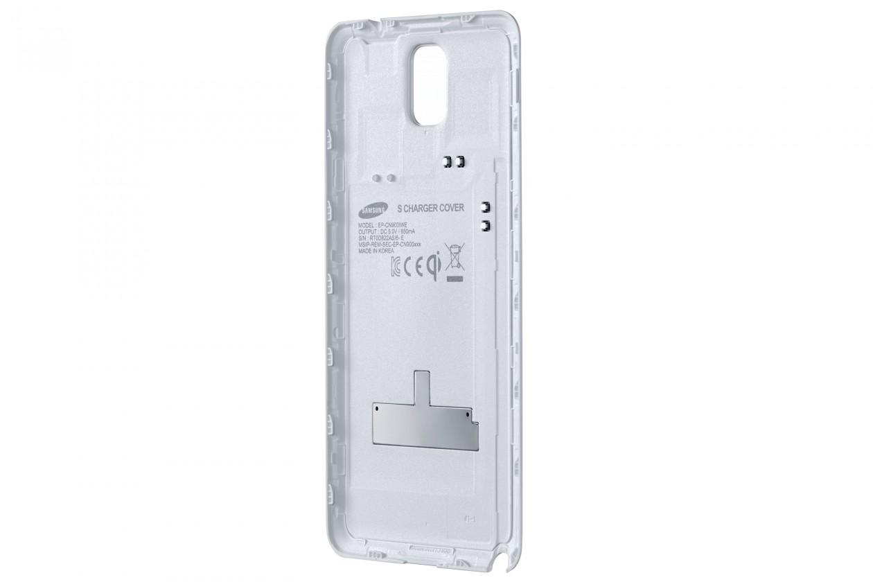 Bezdrôtové nabíjačky Samsung zadný kryt (bezdrát. nabíjanie) pre Galaxy Note 3, biela