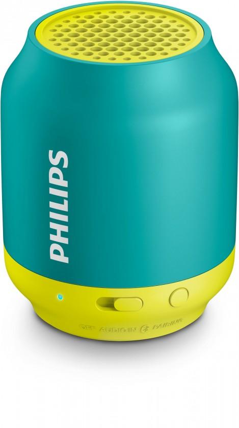 Bezdrôtové repro Philips BT50A, zelená/žltá