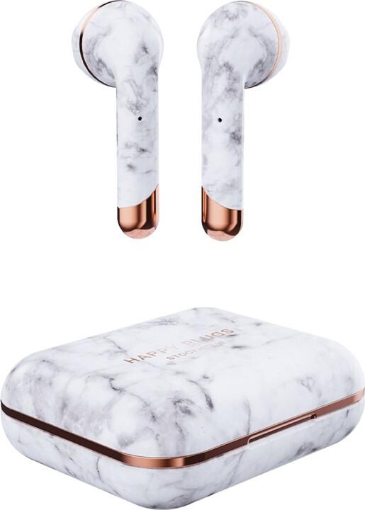 Bezdrôtové slúchadlá Happy Plugs Air1White Marble