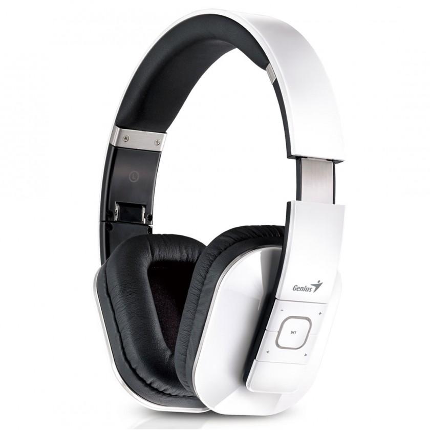 Bezdrôtové Slúchadlá s mik GENIUS HS-970BT, biele, Bluetooth ROZBALENÉ