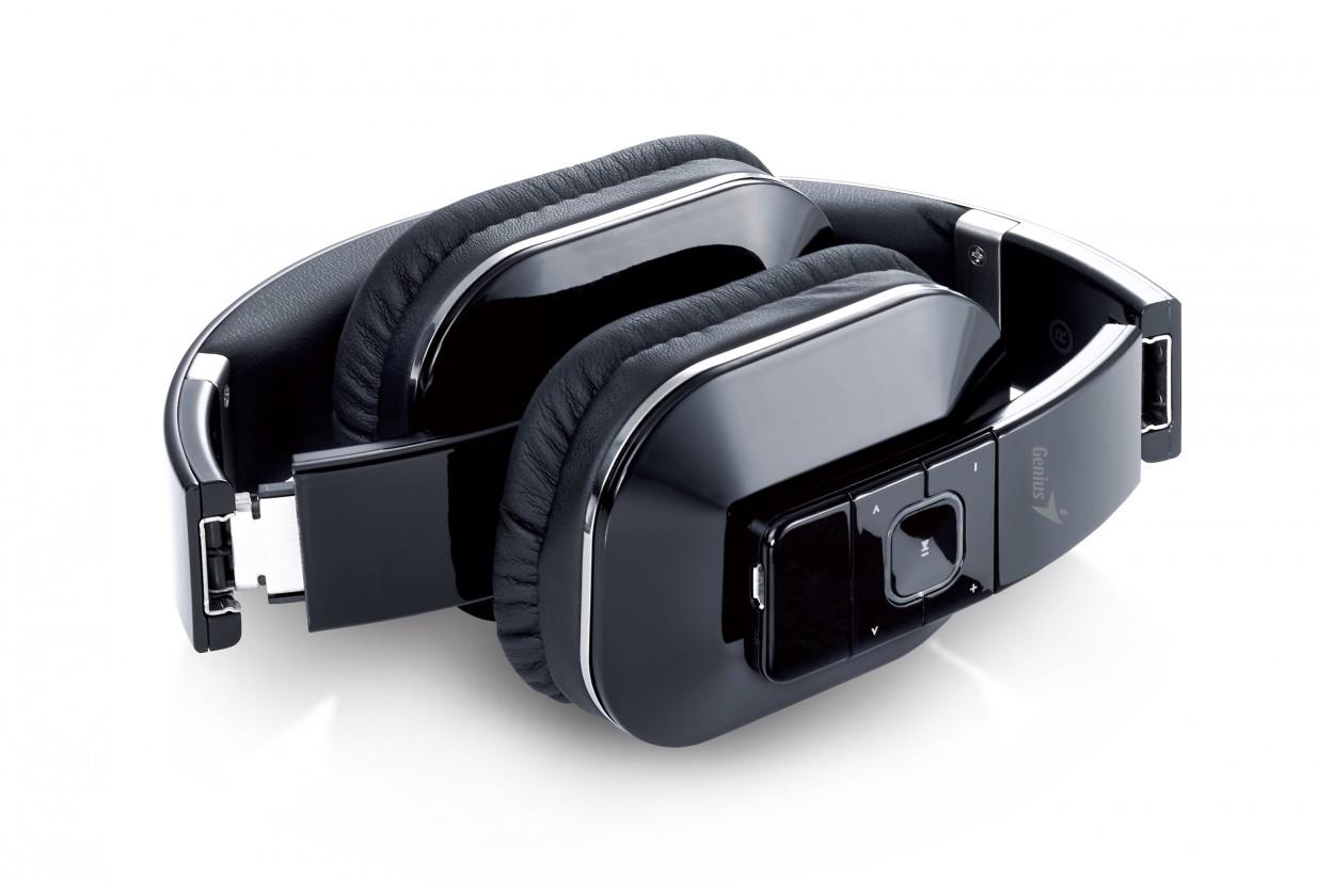 Bezdrôtové Slúchadlá s mik GENIUS HS-970BT, čierne, Bluetooth