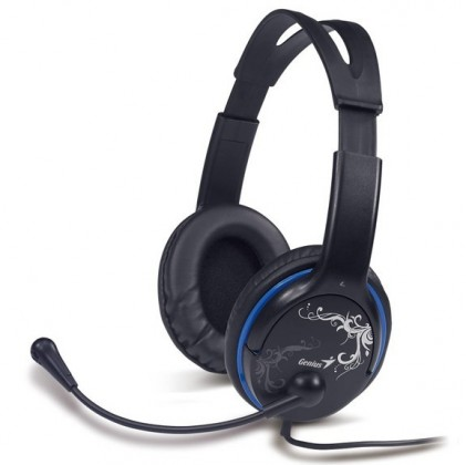 Bezdrôtové Slúchadlá s mik GENIUS HS-M400A, single jack, modré