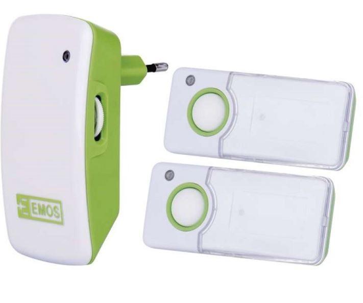 Bezdrôtové zvončeky Domový bezdrôtový zvonček Emos P5741 AC