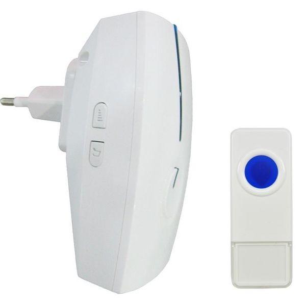 Bezdrôtové zvončeky Solight 1L32 bezdrôtový zvonček do zásuvky,120m,biely