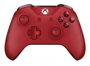 Bezdrôtový ovládač Microsoft XBOX ONE S Wireless, červený
