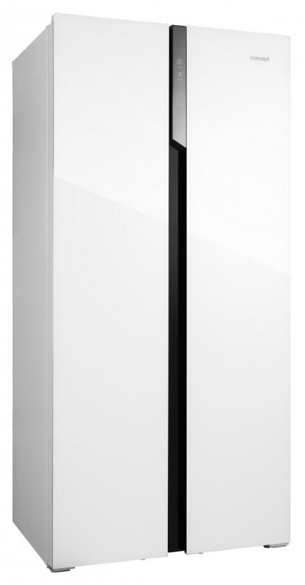 Biele americké chladničky Americká chladnička Concept LA7383wh bílé sklo